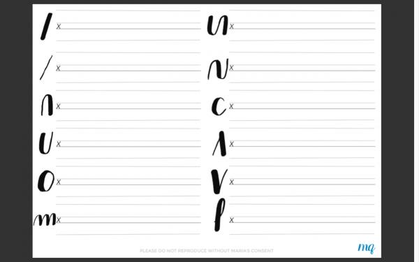 Basic Calligraphy Strokes